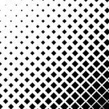 Halftone grafiek met vierkanten, monochromatisch abstract element Stock Foto
