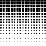 Halftone graphics with squares, monochromatic abstract element Royalty Free Stock Image
