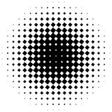 Halftone graphics with squares, monochromatic abstract element Stock Image