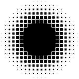 Halftone graphics with squares, monochromatic abstract element Royalty Free Stock Images