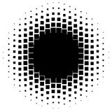 Halftone graphics with squares, monochromatic abstract element Royalty Free Stock Photography