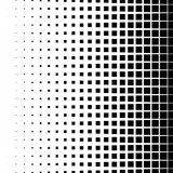 Halftone graphics with squares, monochromatic abstract element Stock Photography