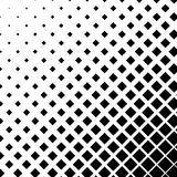 Halftone graphics with squares, monochromatic abstract element Stock Photo