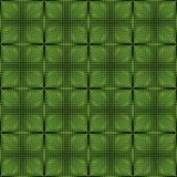Halftone green and black inverse patterns composed as chessboard, seamless vector background Royalty Free Stock Photo