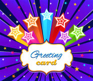 Halftone greeting card with Stars Stock Photos