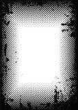 Halftone grens van Grunge Stock Afbeeldingen