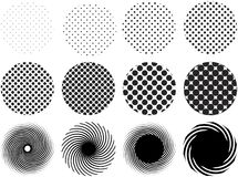 Halftone grid patterns Stock Photos