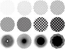 Halftone grid patterns royalty free illustration