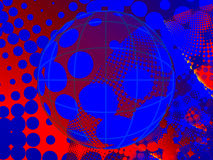 Halftone grunge background with globe Stock Images
