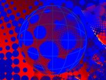 Halftone Grunge Background With Globe Stock Images