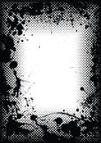 Halftone grunge ink splat border Royalty Free Stock Photos