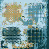 Halftone on the grunge vector background Stock Photos