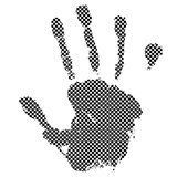 Halftone hand Stock Image