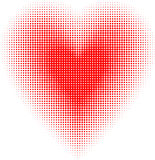 Halftone heart Royalty Free Stock Image