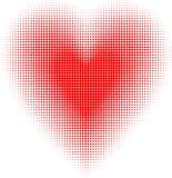 Halftone heart royalty free illustration