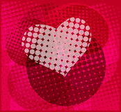 Halftone heart background Royalty Free Stock Photography