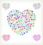 Halftone heart. Stock Photos