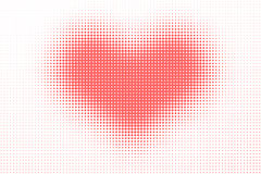 Halftone heart pattern Stock Images