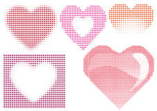 Halftone hearts Royalty Free Stock Image