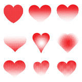 Halftone hearts Royalty Free Stock Photos