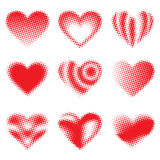 Halftone Hearts Royalty Free Stock Photo