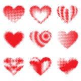 Halftone Hearts Royalty Free Stock Photo