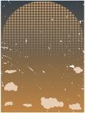 Halftone het toenemen zon grungy oranje wolken Stock Fotografie