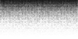 Halftone horizontal gradient pattern. Background using halftone random dots texture. Grunge backdrop. Technology. Vector. Halftone horizontal gradient pattern vector illustration