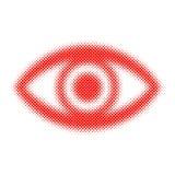 Halftone human eye. Vector illustration. Royalty Free Stock Images