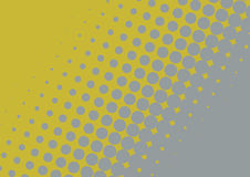 Halftone illustration of Mustard and Grey Stock Image