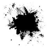 Halftone inkt splat grunge Royalty-vrije Stock Foto's