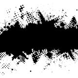 Halftone inkt splat grunge vector illustratie