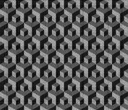Halftone isometric cubical geometric pattern Stock Images