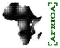 Halftone Kaart van de Titel van Afrika en Grunge-met Hoeken royalty-vrije illustratie