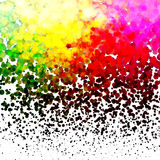 Halftone Kleurrijke patroon van Lichten Dalende Punten  Stock Foto's