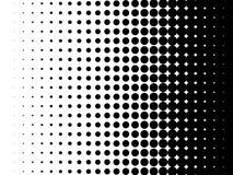 Halftone kropki gradientu deseniowy wektorowy tło royalty ilustracja