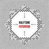 Halftone kropki projekta technologii ramy tła abstrakcjonistyczny biały wektor Obraz Royalty Free