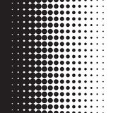 Halftone kropki wzoru gradient w formacie ilustracja wektor