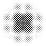 Halftone kwadrata kropki wektoru tekstura Halftone wzoru brzmienia tło ilustracji
