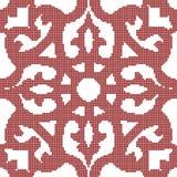 Halftone kwiatu kolorowy bezszwowy retro deseniowy czerwony kalejdoskop Zdjęcia Stock