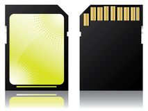 Halftone labeled sd disk Stock Image