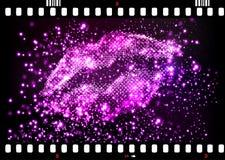 Halftone lips illustration Royalty Free Stock Image