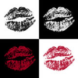 Halftone lips Royalty Free Stock Photo