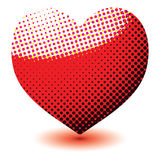 Halftone love heart Stock Images