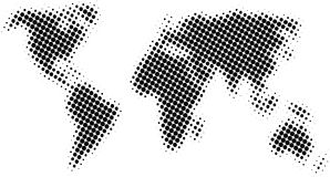 Halftone map Royalty Free Stock Image