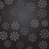 Halftone minimalistic sneeuwvlokken over donkere gradiëntachtergrond Royalty-vrije Stock Fotografie