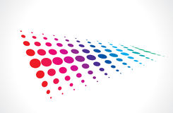 Halftone multicolor background Royalty Free Stock Image