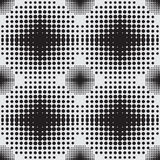 Halftone naadloos patroon als achtergrond Stock Foto's