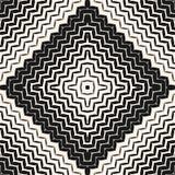 Halftone naadloos patroon Diagonale zigzaglijnen in vierkant vector illustratie