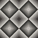 Halftone naadloos patroon Diagonale zigzaglijnen in vierkante vorm royalty-vrije illustratie